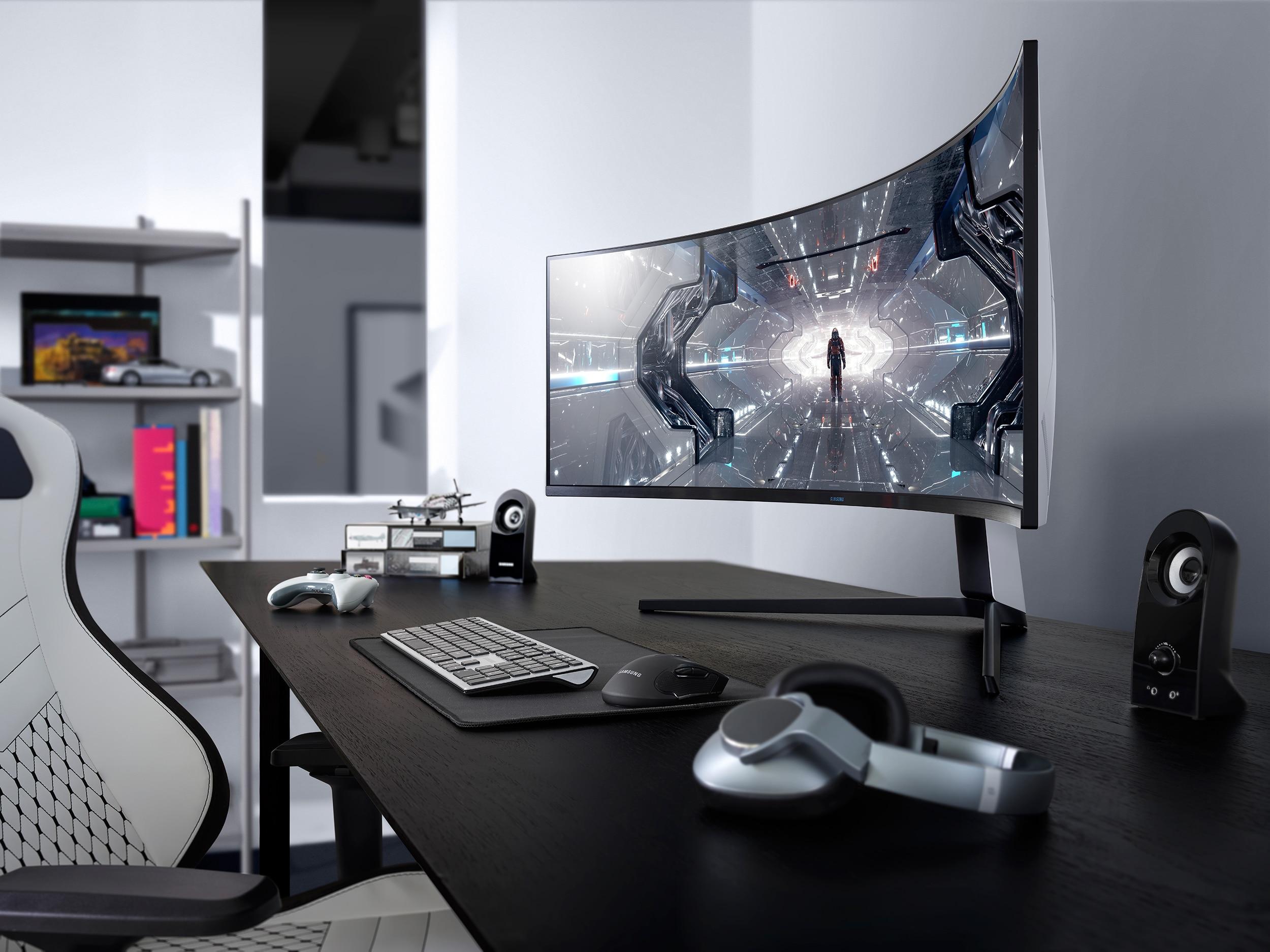 Das ist Curved: Samsung Curved Odyssey Monitor!